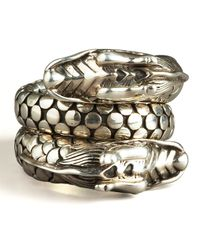 John Hardy | Metallic Naga Head Coil Ring | Lyst