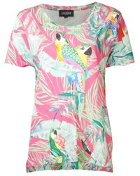 Saloni | Pink Bird Print T-Shirt | Lyst