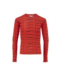 J.W.Anderson | Red Tool Print Long Sleeve Top for Men | Lyst