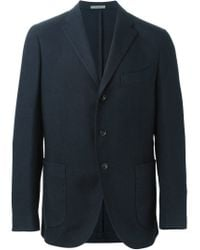 Boglioli - Blue Patch Pockets Blazer for Men - Lyst