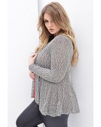 Forever 21 | Black Plus Size Marled Knit Cardigan You've Been Added To The Waitlist | Lyst