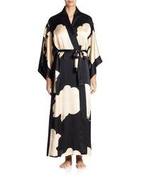 Josie Natori - Multicolor Bold Blossom-Print Robe - Lyst