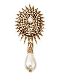 Oscar de la Renta | Metallic Pearly Star Brooch | Lyst