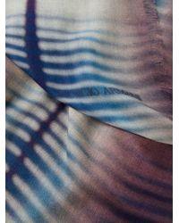 Giorgio Armani - Blue Fringed Tie Dye Scarf for Men - Lyst