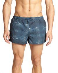 Monsieur Madone - Blue Plage Stingray-patterned Swim Trunks for Men - Lyst