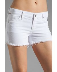 Citizens of Humanity | White Ava Cut Off Shorts | Lyst