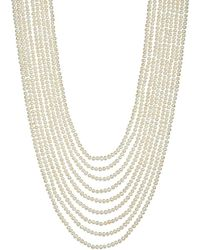 Annoushka | White Cascading 18ct Yellow-gold And Pearl Necklace - For Women | Lyst