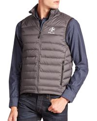Polo Ralph Lauren - Gray Rlx Global Explorer Down Vest for Men - Lyst