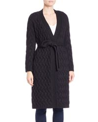 Guess | Black Convertible Faux Fur-collared Cardigan | Lyst