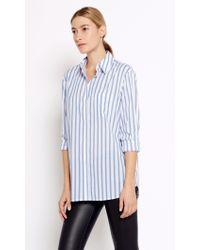Equipment   Blue Margaux Cotton Shirt   Lyst