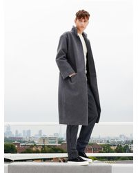 Raey - Gray Wool And Cashmere-Blend Overcoat for Men - Lyst
