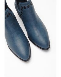 Forever 21 - Blue Grommeted Faux Leather Booties You've Been Added To The Waitlist - Lyst