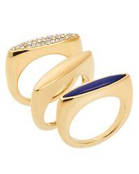 Michael Kors | Metallic Rings, Set Of 3 | Lyst