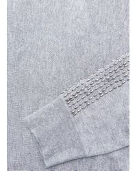 Violeta by Mango - Gray Cotton Wool-blend Sweater - Lyst