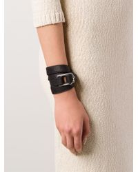 Hoorsenbuhs - Black Buckled Triple Wrap Bracelet - Lyst