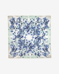 Athena Procopiou - Blue Pom Pom Trim Scarf - Lyst