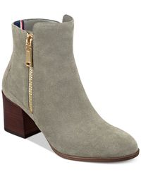 Tommy Hilfiger | Gray Dita Booties | Lyst