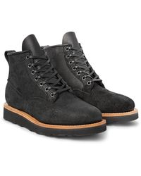 Viberg   Black Scout Oiled Roughout-leather Boots for Men   Lyst