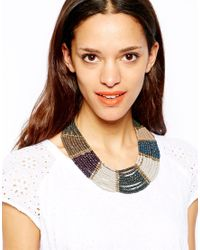 Pull&Bear | Gray Necklace with Beads | Lyst