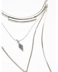 Free People - Metallic Womens Dany Tiered Drop Collar - Lyst