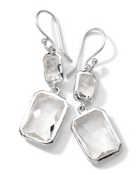 Ippolita | Metallic Sterling Silver Wonderland Rectangular Mini-drop Earrings In Clear Quartz | Lyst