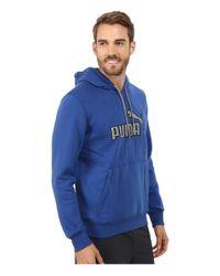 PUMA | Blue Hoodie for Men | Lyst