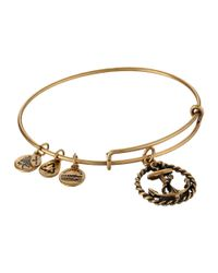 ALEX AND ANI | Metallic Nautical Charm Bangle | Lyst