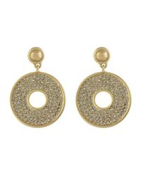 Karen Kane | Metallic Iris Open Disc Drop Earrings | Lyst