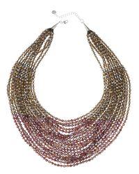Nakamol | Purple Layered Bead Statement Necklace | Lyst
