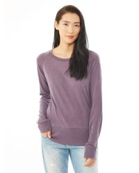 Alternative Apparel | Purple Basic Burnout Raglan Top | Lyst