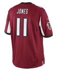 af733f321 Lyst - Nike Men's Julio Jones Atlanta Falcons Limited Jersey in Red ...