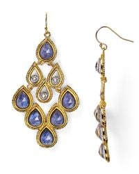 Alexis Bittar - Metallic Sodalite Articulating Scalloped Chandelier Earrings - Lyst