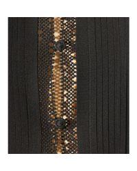 Tory Burch - Black Crochet Lace-trimmed Silk Blouse - Lyst