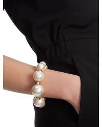 Jaeger - Metallic Chunky Pearl Bracelet - Lyst