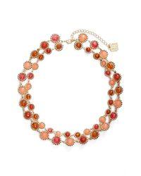 Anne Klein - Metallic Stone 2-row Collar Necklace - Lyst