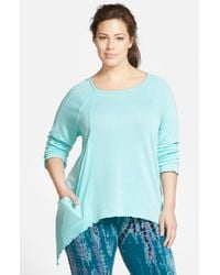 Hard Tail | Blue 'frolic' Asymmetrical Top | Lyst