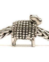 Trollbeads | Metallic Lamb Silver Charm Bead | Lyst