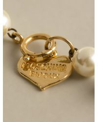 Moschino   Natural Faux Pearl Necklace   Lyst