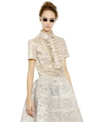 Rochas | Metallic Lace Lurex Ruffled Shirt | Lyst