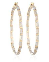 Nak Armstrong - Metallic Gold Labradorite Hoop Earrings - Lyst