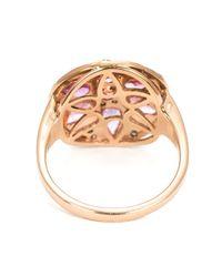 Ileana Makri   Purple Sapphire And Diamond Flower Ring   Lyst