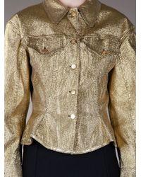 Jean Paul Gaultier - Yellow Metallic Gold Jacket - Lyst