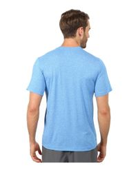 New Balance - Blue Short Sleeve Heather Tech Tee for Men - Lyst