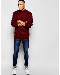 Native Youth - Red Oversized Stitch Jumper for Men - Lyst