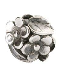 Trollbeads | Metallic Sterling Silver Mum's Bouquet Bead | Lyst