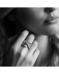 David Yurman | Metallic Renaissance Ring With Diamonds | Lyst