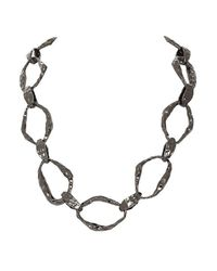 House of Harlow 1960 | Gray Textured Link Necklace | Lyst