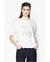 French Connection - White Chill It T-shirt - Lyst