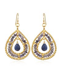 Wendy Mink | Blue Iolite Roundel And Sodalite Teardrop Earrings | Lyst
