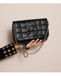 Tory Burch - Black Marion Quilted Patent Clutch - Lyst